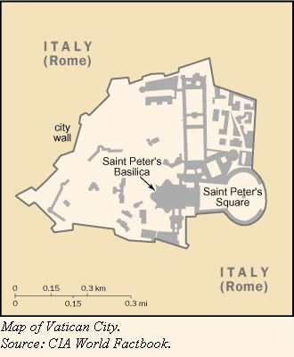 A map of Vatican City
