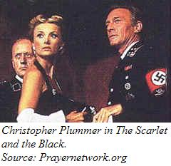 Christopher Plummer in a scene from The Scarlet and the Black